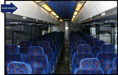 Inside of the Deluxe Motorcoach